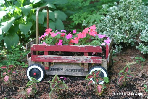 Radio Flyer planter wagon