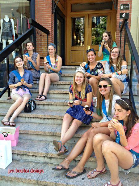 Cupcake Crawl Georgetown steps