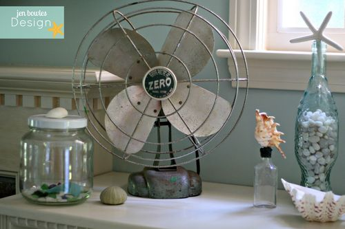 Vintage Coastal Summer Fan