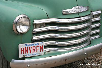 Vintage Truck grille