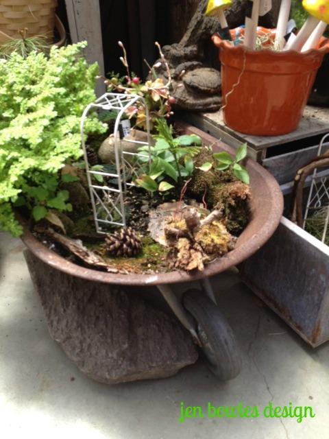 Fairy Garden wheelbarrow