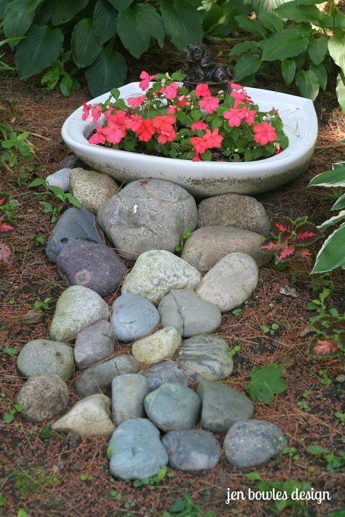 Dry creek bed beach rocks