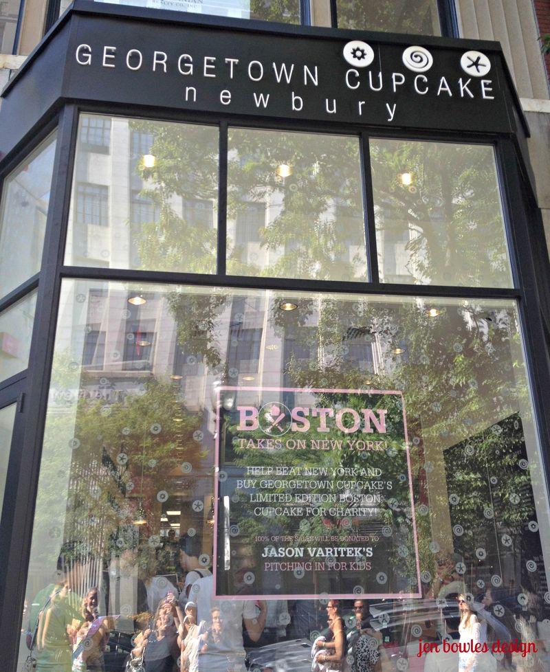 Cupcake Crawl Georgetown window