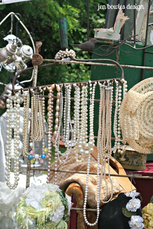 Pearls on a rusty rake