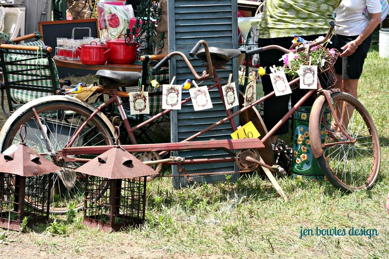 Vintage bicycle for two