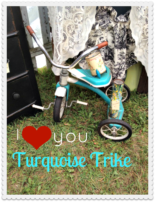 Turquoise Tricycle