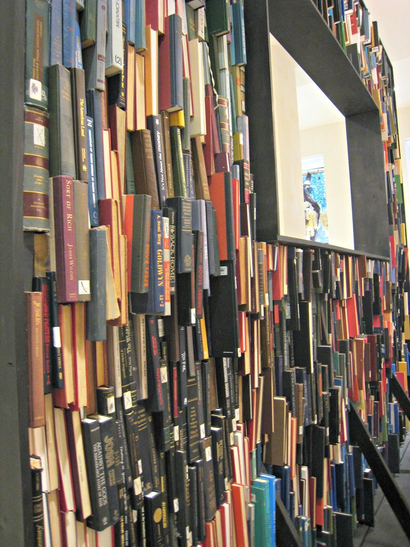 Anthropologie book wall side