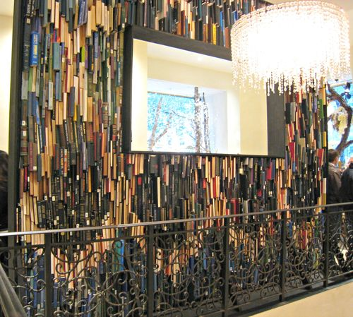 Anthropologie book wall 1