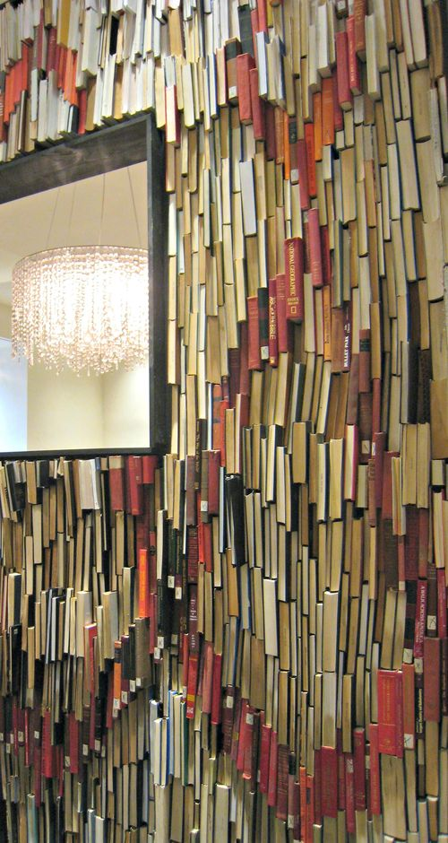 Anthropologie book wall front