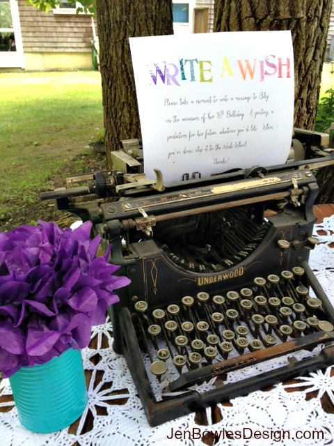 Write a wish vintage typewriter