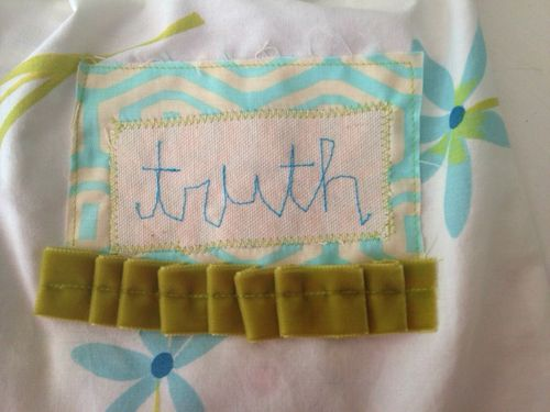 Stitched truth