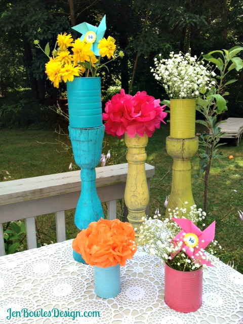 Sweet 16 flower table decorations