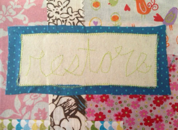 Restore close up stitching