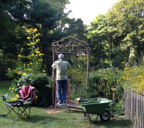 Rustic Arbor almost done