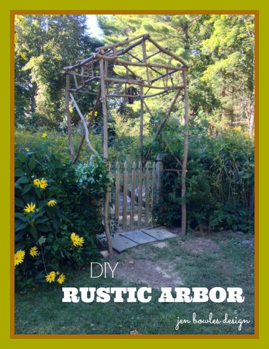 DIY rustic garden arbor