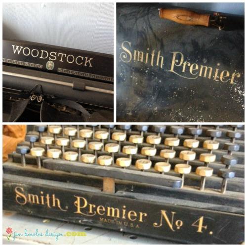 Vintage typewriter script collage