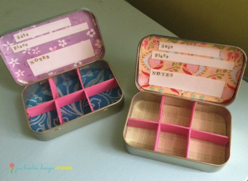 Altoid tin nature boxes inside  Jen Bowles Design