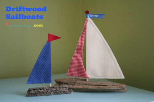 Pair of Driftwood Sailboats by Jen Bowles Design