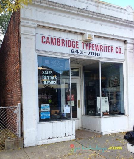 Cambridge Typewriter storefront Arlington