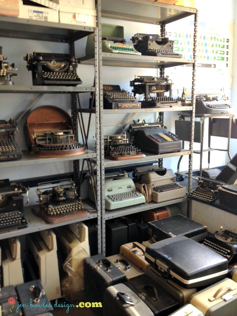 Vintage typewriter heaven at Cambridge Tyepwriter