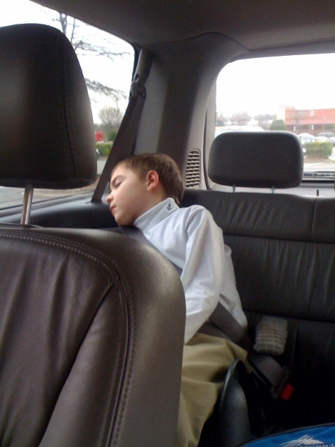 Cuyler zonked in the car